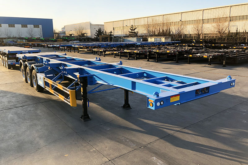 40 ftr skeleton container chassis trailer
