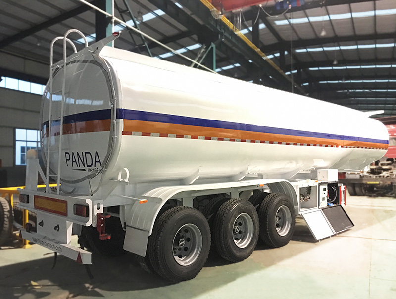 3 axle 38,000 liters fuel tank semi trailer