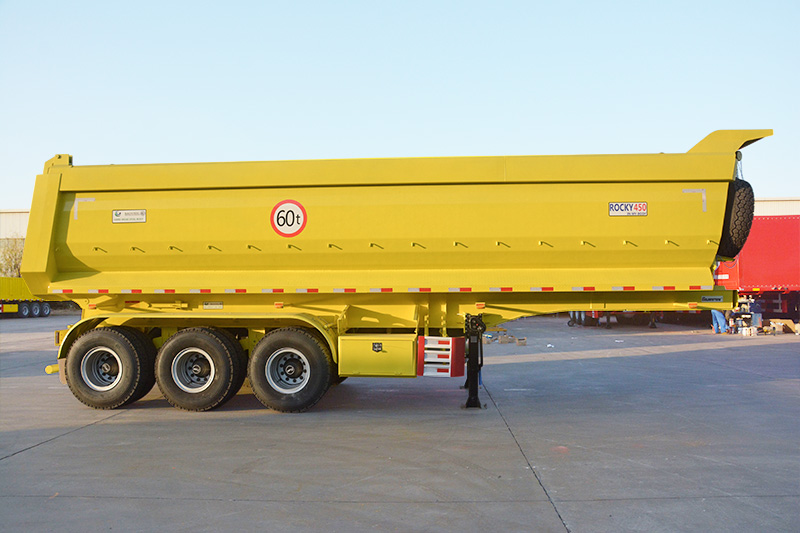 40 m3 3 axle u type tipping truck trailer