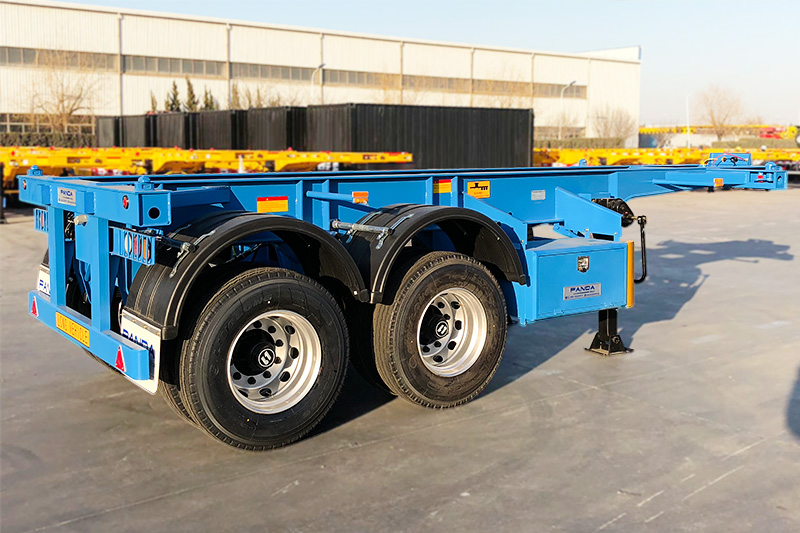 20 footer skeleton chassis trailer