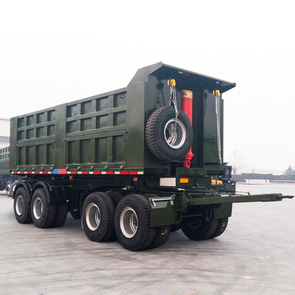A Double heavy duty tipper Trailer