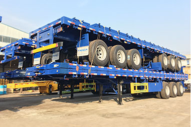 Drop side trailer delivered to West Africa